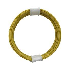 Kupferschalt Litze gelb - extra duenn 0,04 mm 10m Ring