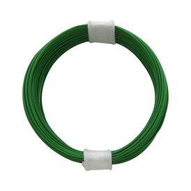 Kupferschalt Litze gruen - extra duenn 0,04 mm 10m Ring...