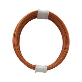 Kupferschalt Litze orange - extra duenn 0,04 mm 10m Ring...