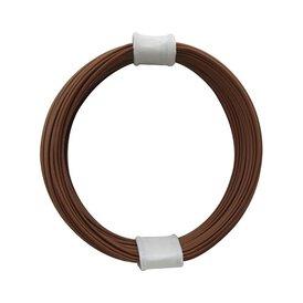 Kupferschalt Litze braun - extra duenn 0,04 mm 10m Ring