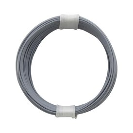 Kupferschalt Litze grau - extra duenn 0,04 mm 10m Ring