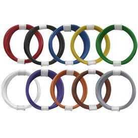 Kupferschalt Litze alle 10 Farben - extra dünn 0,04 mm je...