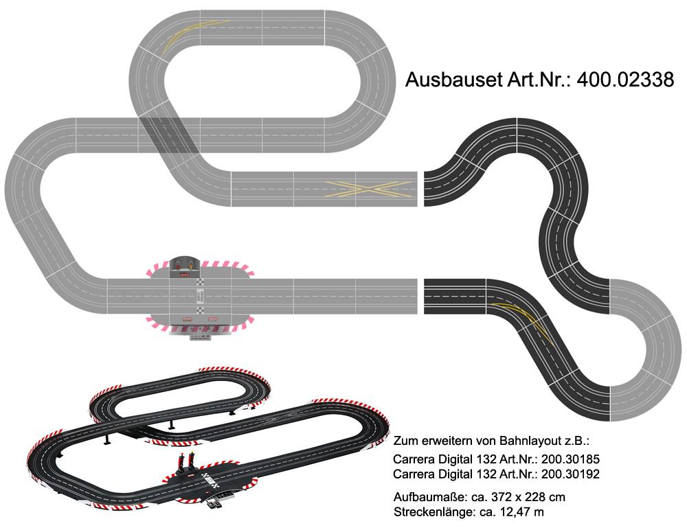 Carrera 20509 Digital 132//124//Evolution//Pro-X Standardgerade Set 10 Stück