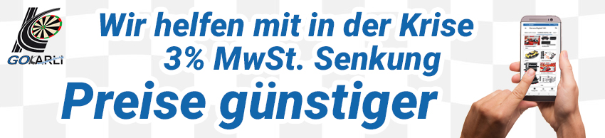 3% MwSt Senkung im GOKarli Rennbahn & Dar