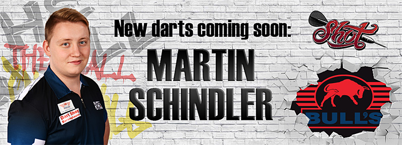 Dart Spieler Martin Schindler Bull?s powered by Shot Darts