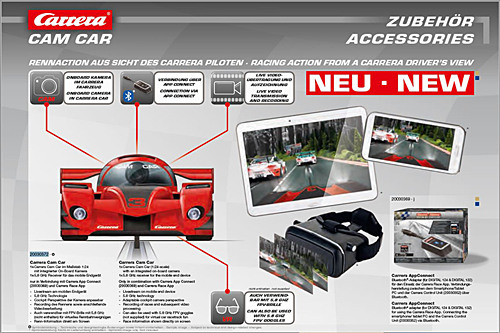 Carrera Cam Car Rennaction aus Sicht des Carrera Piloten!