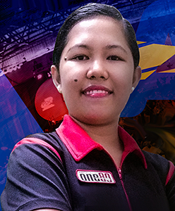 Dart Spielerin Angelyn Valmadrid Detablan one80