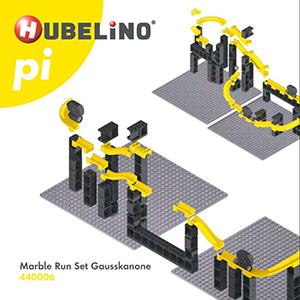 Bauanleitung / Montageanleitung Hubelino Kugelbahn pi Marble Run Set Gausskanone 70 Teile 440006