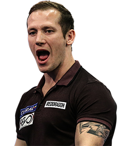 Dart Spieler Arron Monk Red Dragon