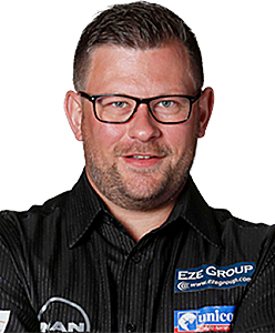 Dart Spieler James Wade unicorn