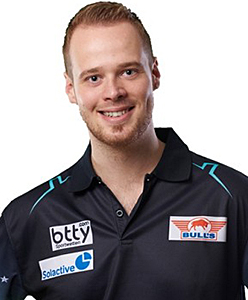 Dart Spieler Max Hopp Bull's powered by Shot Darts