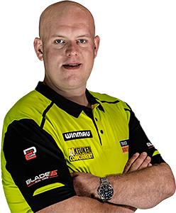 Dart Spieler Michael van Gerwen XQMax Darts