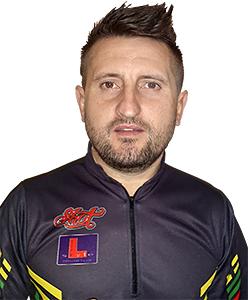 Dart Spieler Mindaugas Barauskas Shot Darts