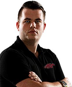 Dart Spieler Niels Zonneveld Shot Darts