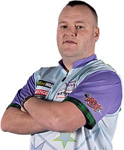 Dart Spieler Ryan Murray Shot Darts