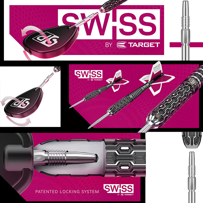 Target Darts patentierten Swiss Point